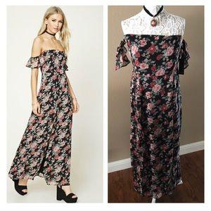🆓BUY2 GET 1 FREE Off the shoulder maxi dress